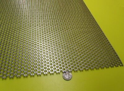 Perforated 316 Stainless Steel Sheet .060 Thick X 36 X 40 .250 Hole Dia.