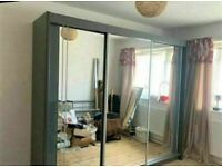 💥💯BRAND NEW 2 AND 3 MIRRORED DOORS SLIDING WARDROBES WITH SHELVES, RAILS