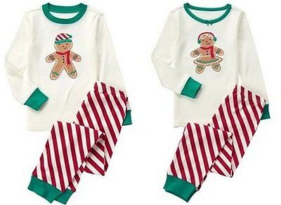 Boy Stripe Pjs - NWT Gymboree GINGERBREAD 2016 Christmas/Holiday Stripe Pajamas/Gymmies Boy/Girl