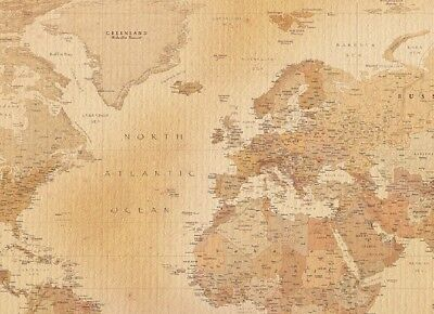 Wall Mural Wallpaper Old Style Map of The World