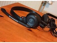 sennheisser pc 3 headphones Chat 2.0 Headset Lightweight Telephony On-Ear