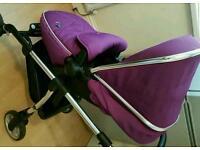 Silvercross wayfarer pushchair. (Damson)