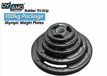 Weight Plates Olympic Rubber Tri-Grip 100kg Package Deal Malaga Swan Area Preview