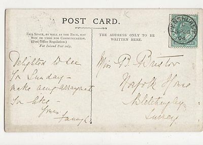 Miss B Bristow Norfolk House Blecthingley 1904 166a
