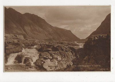 Upper Falls On The River Coe Vintage Postcard  217a