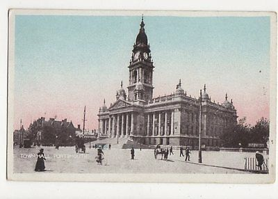 Town Hall Portsmouth Vintage Postcard  248a