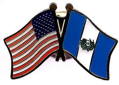 LOT OF 3 Guatemala Friendship Flag Lapel Pins - Guatemalan Crossed Flag Pin