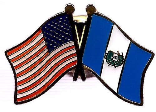 LOT OF 12 Guatemala Friendship Flag Lapel Pins - Guatemalan Crossed Flag Pin
