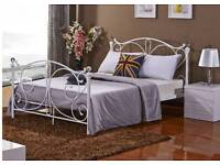 #NEW 3ft Single 4ft 4ft6 Double 5ft King Metal Bed and Mattress