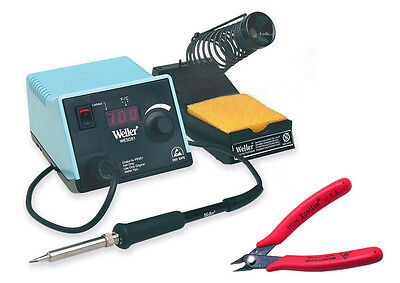 Weller Wesd51 Digital Soldering Station 50 Watt Iron 170m Xcelite Flush Cutter