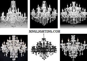 LUMINAIRE LUSTRES CRISTAL TRADITIONAL CANDLE CRYSTAL CHANDELIERS