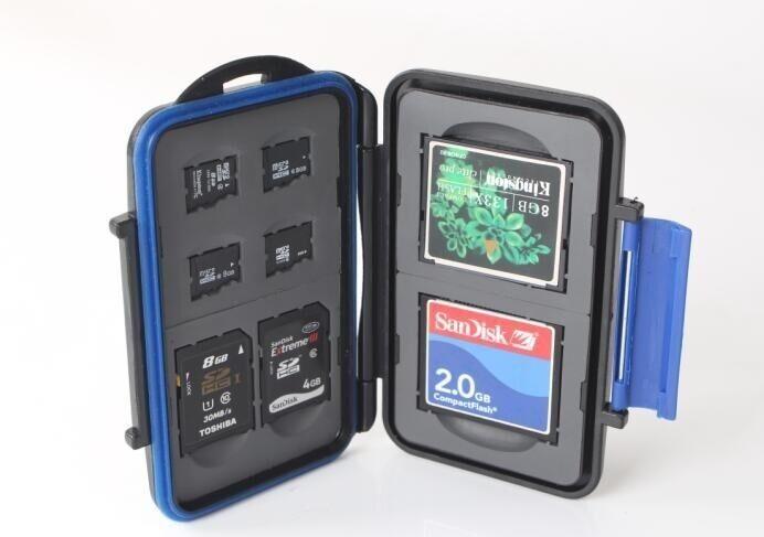ZTC Micro Card Travel Case 4x microSD 2x SDHC 2x CF Rugged Waterproof/Shockproof