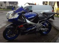 Suzuki GSXR1000K2, part exchange with cash either way