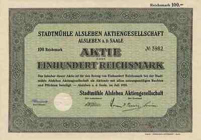 Stadtmühle 1935 Alsleben Saale Bernburg Saalmühlen 100 RM Wasserkraft Anhalt