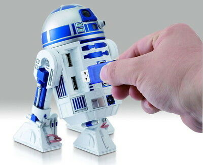 Star Wars R2-D2 USB HUB 4 port Figure Sound Doll Force Awakens Japan