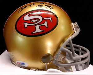 JERRY RICE AUTOGRAPHED SIGNED SF 49ERS MINI HELMET