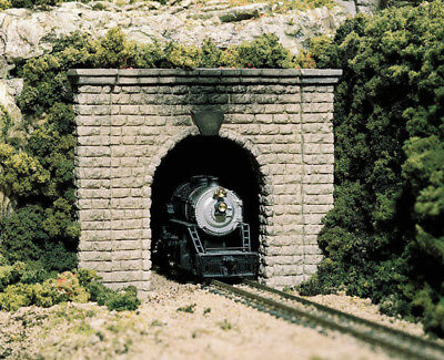 Woodland Scenics N Scale Single Track Tunnel Portals (2-Pack) Plaster Cut Stone for sale  Altoona