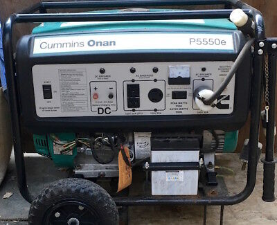 Cummings Onan Portable Gas Generator P5550e Excellent Condition