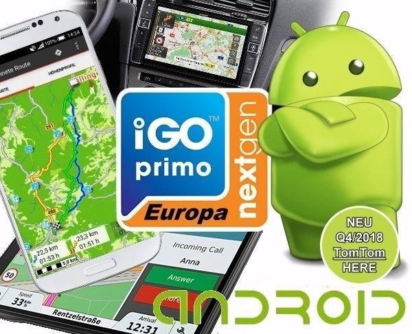 iGO PRIMO nextgen - Navigations Software für Android - Q4 Okt. - Dez. 2018