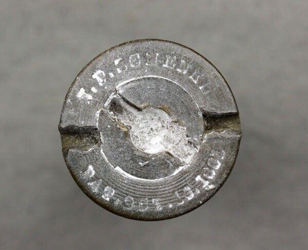 Dug Civil War Schenkl Fuse Marked J.P. Schenkl Pat Oct. 16, 1861 Spotsylvania VA
