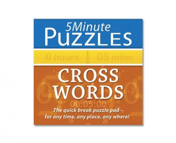 Holland Publishing 973H Five Minute Cross Word Puzzle Adults Activity Book - New