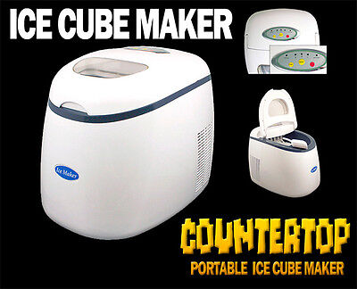 New Deluxe 33 lbs/Day 3 Size Portable Countertop Desk Ice Cube Maker Machine