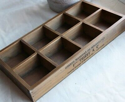 8 Slots Antique Style Wood Tray (On Sale)