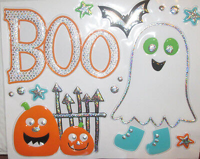 HALLOWEEN wall stickers 14 decals BOO ghost bat pumpkins cute for kids party - Halloween Ghosts For Trees