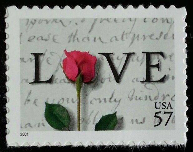 2001 57c Rose & Love Letters Scott 3551 Mint F/vf Nh
