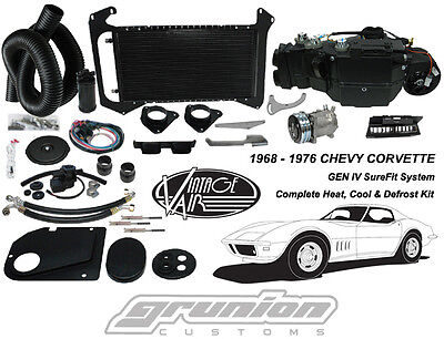 Vintage Air 1968-72 Corvette w/o AC Heat Air Conditioning Defrost Kit 961174