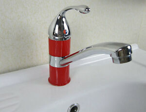 red kitchen faucet red color bathroom or kitchen faucet sink bain mixer tap l0104 ebay 7414