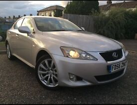 SILVER LEXUS IS220 DIESEL 2007 FULL LEATHER SAT NAV HPI CLEAP FULL SERVICE HISTORY