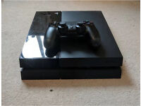 PlayStation 4. PS4 with two controllers and all cables