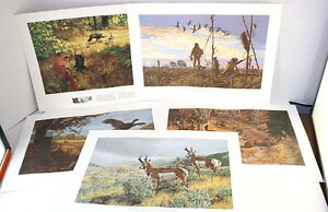 1972-Remington-Wildlife-Art-Collection-Tribute-To-Wildlife-Management-5-Prints