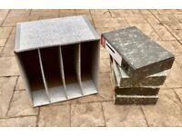 4 x Rigid Box Files & Cardboard Storage Unit