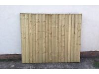 New Pressure Treated Flat Top Feather Edge Fence Panels * Heavy Duty