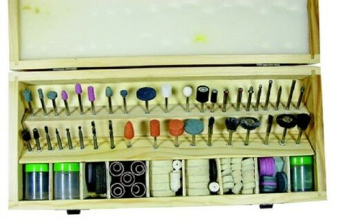 228pc. Rotary Tool Accessories Set With Wooden Case