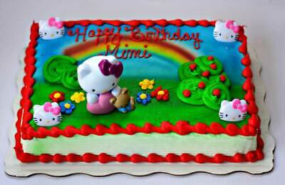 NEW Hello Kitty Cake Topper Kit Decoration by Bakery Crafts with 4 Rings - Hello Kitty Cake Kit