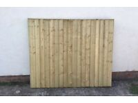 New Feather Edge Flat Top Fence Panels