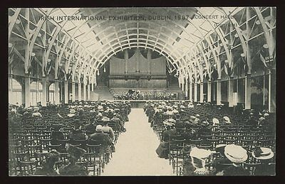 Ireland DUBLIN Concert Hall 1907 Irish International Exhibition PPC