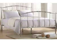 4ft6 Double Joseph Maple - Silver/grey - Metal Bed Frame Was £199.99 Now £90