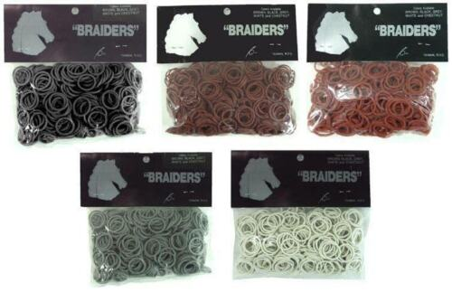 NEW Braiders Braiding Bands - Pack of 500 (Grey)