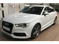 White AUDI A3 SALOON 1.6 1.8 2.0 TFSI Petrol QUATTRO SPORT FROM £77 PER WEEK!