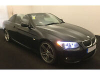 Black BMW 330 3.0 auto 2010 i M Sport FROM £45 PER WEEK!