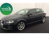 £199.78 PER MONTH - 2010 Audi A3 1.4T FSI S LINE SPORTBACK 5 DOOR PETROL
