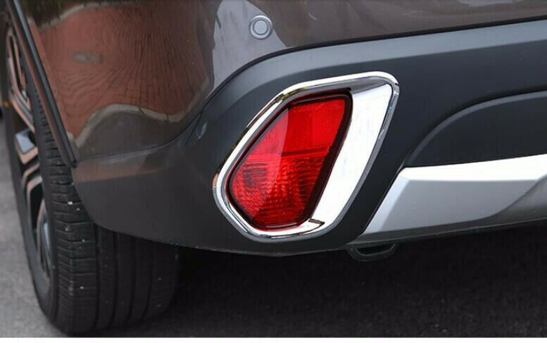 For Mitsubishi Outlander 2016-2018 ABS Chrome Trim Cover Rear Frog Light Lamp