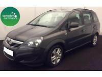 £162.54 PER MONTH GREY 2013 VAUXHALL ZAFIRA 1.7 CDTi EXCLUSIV MANUAL 7 SEATER