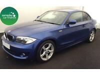 £229.47 PER MONTH BLU 2012 BMW 118D 2.0 SPORT 2 DOOR COUPE DIESEL MANUAL