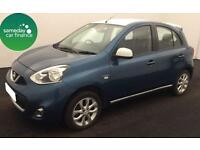 £139.71 PER MONTH BLUE 2014 NISSAN MICRA 1.2 DIG-S ACENTA LIMITED EDITION 5 DR