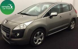 £133.85 PER MONTH GREY 2011 PEUGEOT 3008 Crossover 1.6 EXCLUSIVE PETROL MANUAL